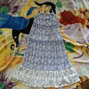 Cat & Jack girls 6/6x blue summer maxi dress